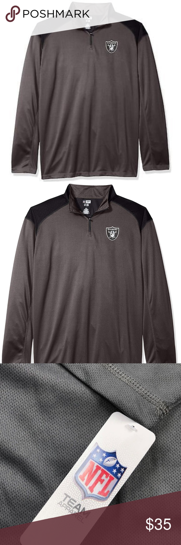 huge selection of 79bd5 93fff Oakland Raiders Pullover 1/4 Zip Poly Jersey 4XL NFL Oakland ...