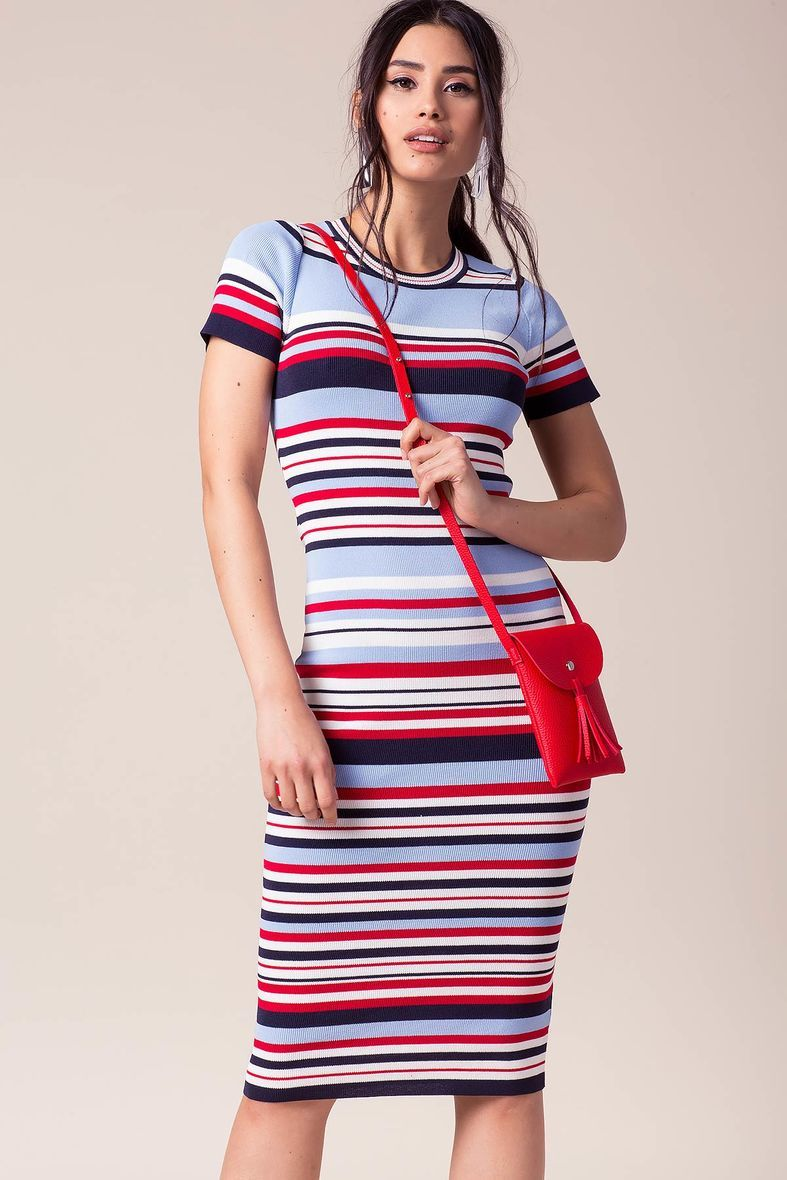 Cascade Stripe Bodycon Dress Striped Bodycon Dress Dresses Women Bodycon Dress [ 1180 x 787 Pixel ]