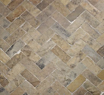 Discover All The Information About Product Indoor Tile Floor Natural Stone Textured Antique English Herringbone Lapicida And Find Where You