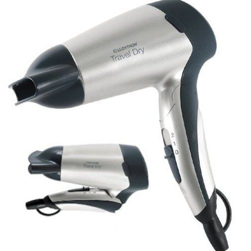 NEW Compact Hair Dryer Travel Dry Folding Handle Lloytron 1200W Dual Voltage FPP
