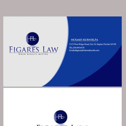 Figares Law - Create a classy design for a high end law firm