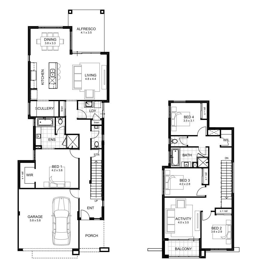 10m Wide House Designs Perth Single And Double Storey