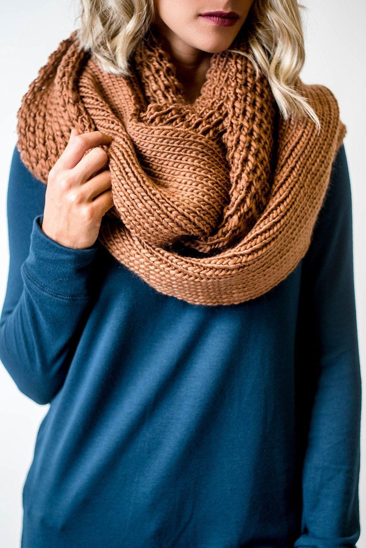 Chunky Knit Infinity Scarf | Stricken