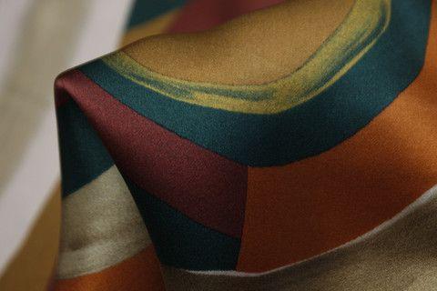 Mixed Swirl - Satin Silk - Tessuti Fabrics - Online Fabric Store - Cotton, Linen, Silk, Bridal & more