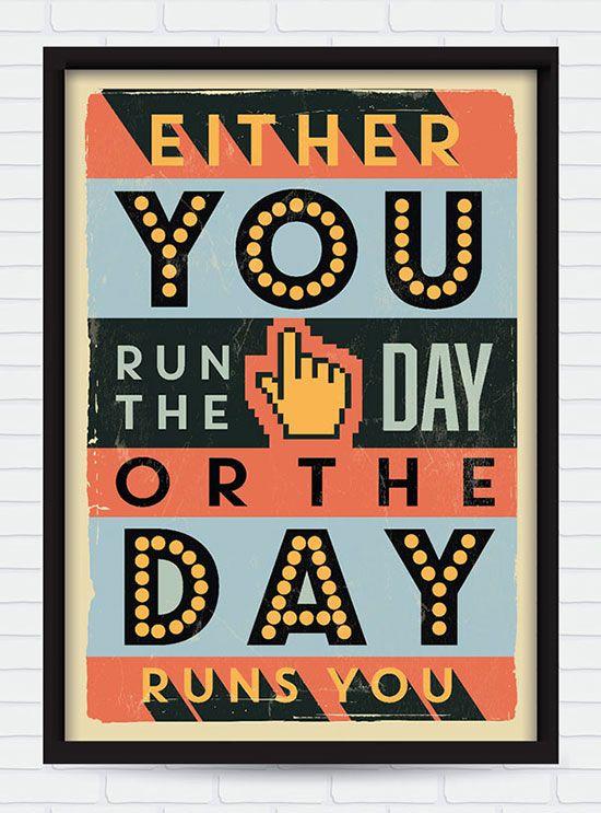20 Retro Vintage Motivational Typography Quotes Naxart Poster Design Inspiration Canvas Art