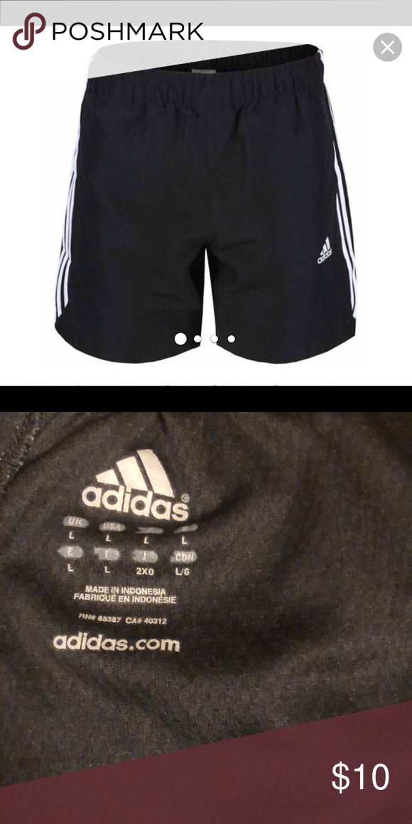 adidas Essential Chelsea Mens Running Shorts Black checkout