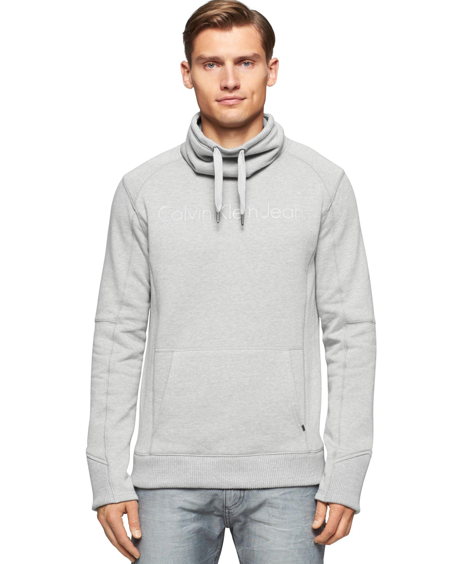 Calvin Klein Jeans Melange Fleece Funnel Neck Sweater Sweaters Men Macy S Mens Outfits Sweaters Funnel Neck Sweater [ 2378 x 1947 Pixel ]