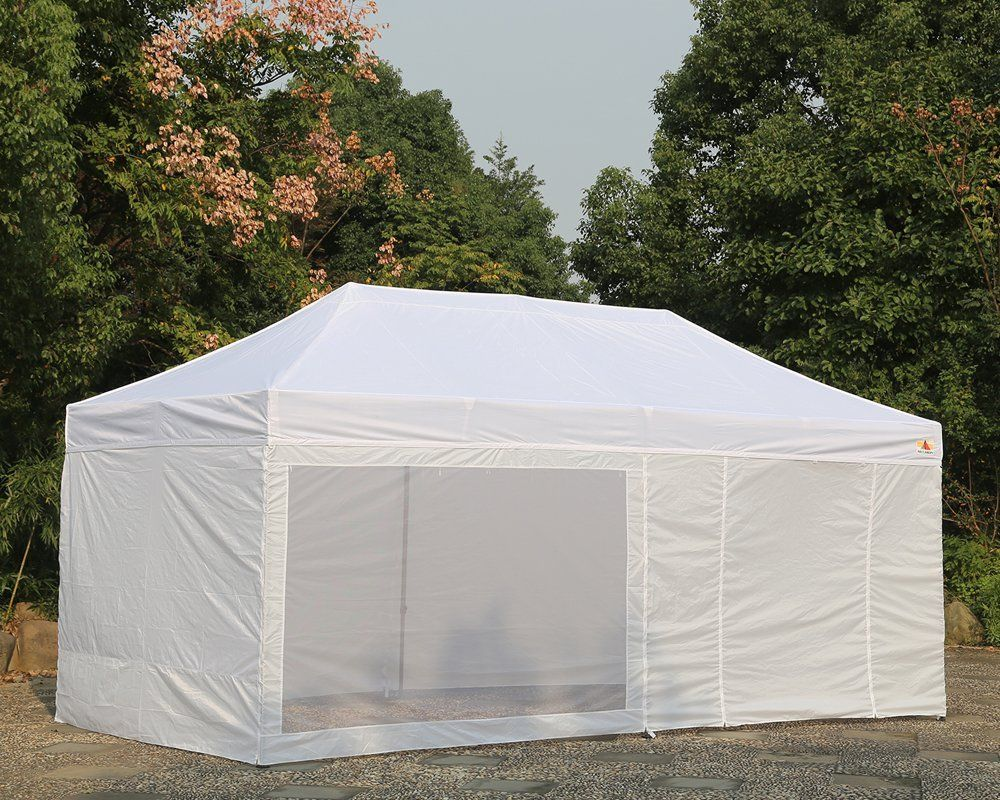 10x20 Pop Up 6 Walls Canopy Party Tent Gazebo Ez Red Stripe E Model By Delta Canopies See This Great Product This Is An Amazon Affi Party Tent Tent Gazebo