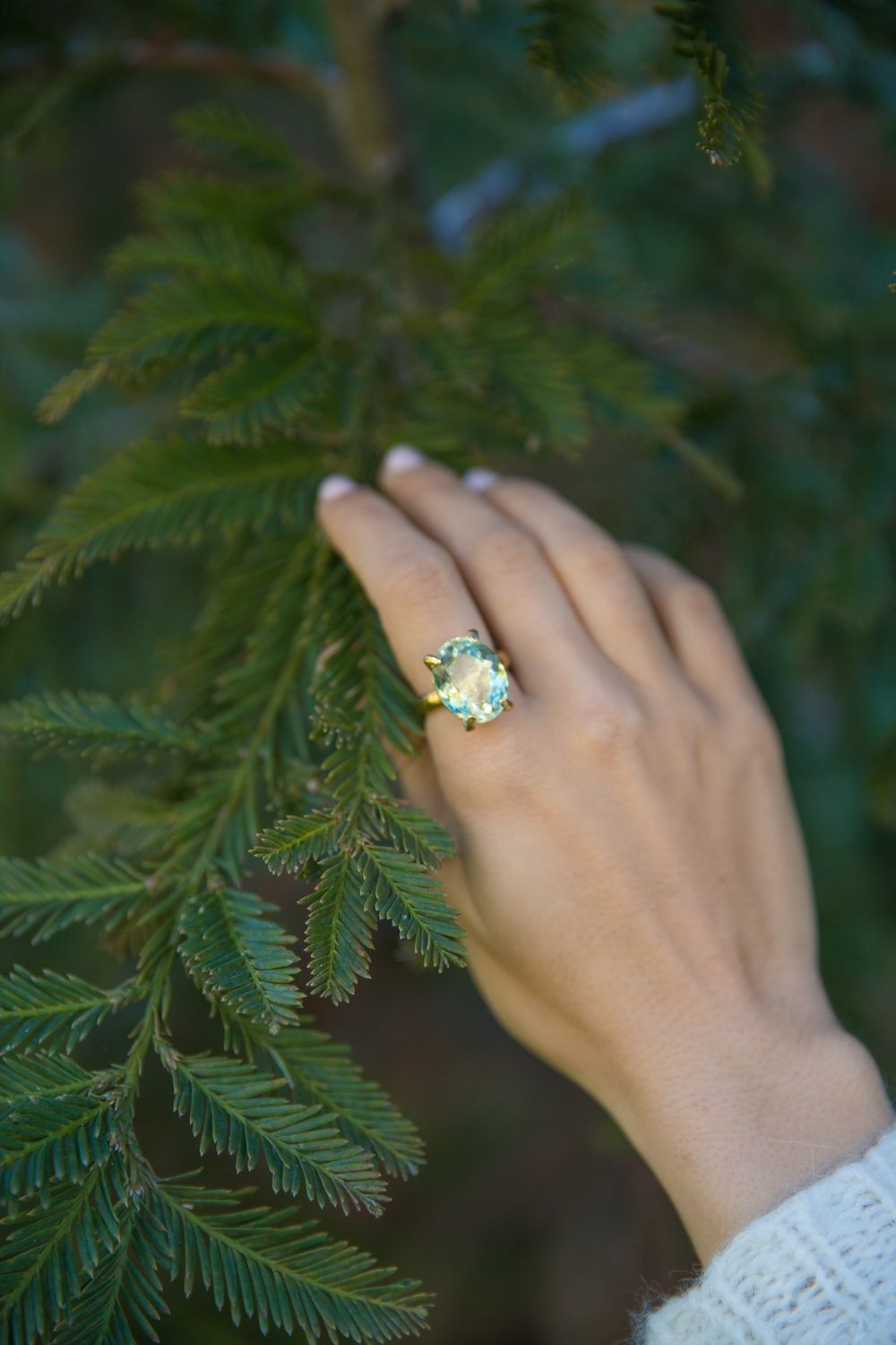 Silver May Sparkler Rings - not a turquoise/aquamarine so I could wear this colour <3 Green enough for me!