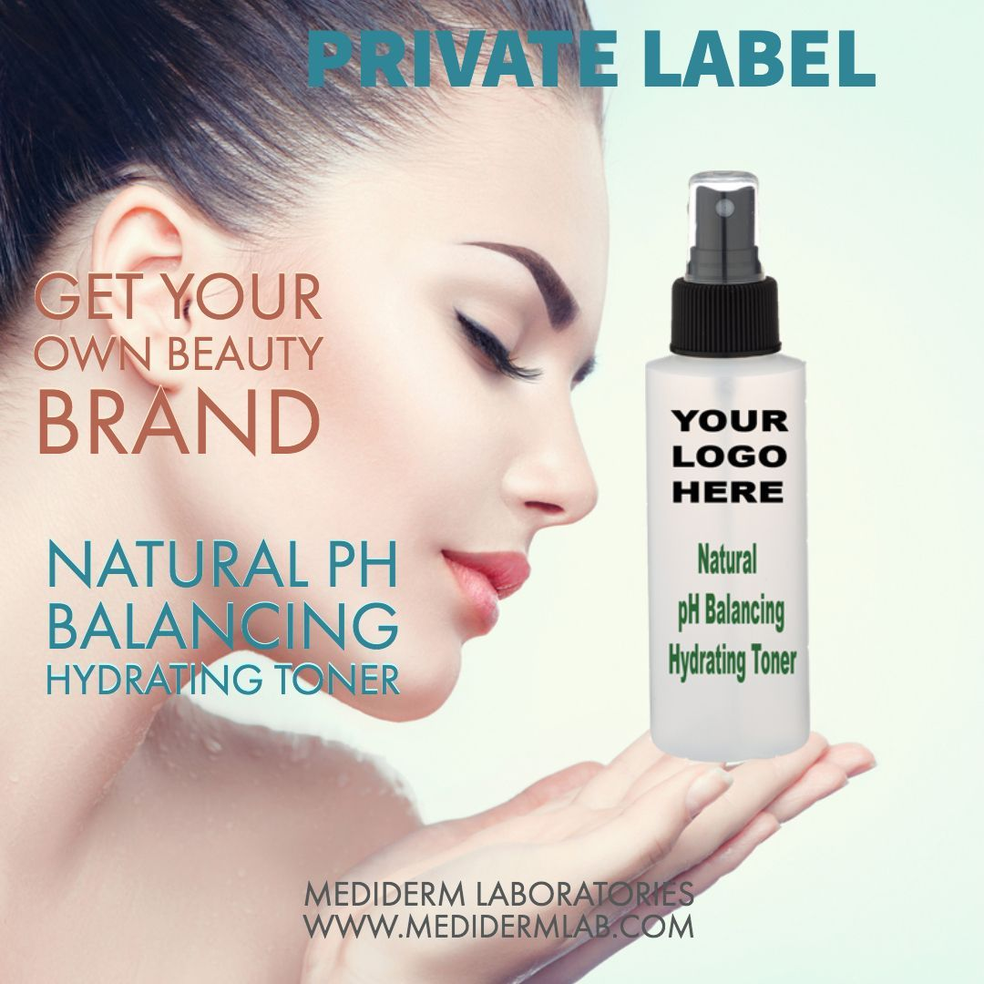 Private Label Natural Ph Balancing Hydrating Toner All Skin Types Private Label Skin Care Oem Cosmetic Manufactur In 2020 Private Label Skin Care Skin Care Skin Types