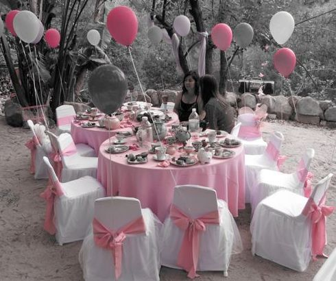 Pretty Pink And Black Sweet 16 Party Table Ideas Sweet 16