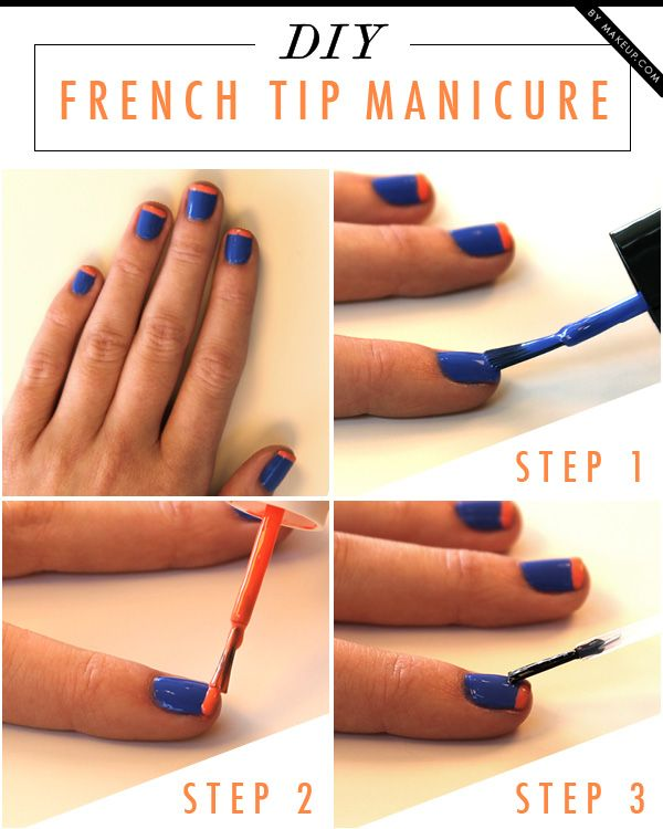 This DIY colored French tip manicure is just too cute! You can ...
