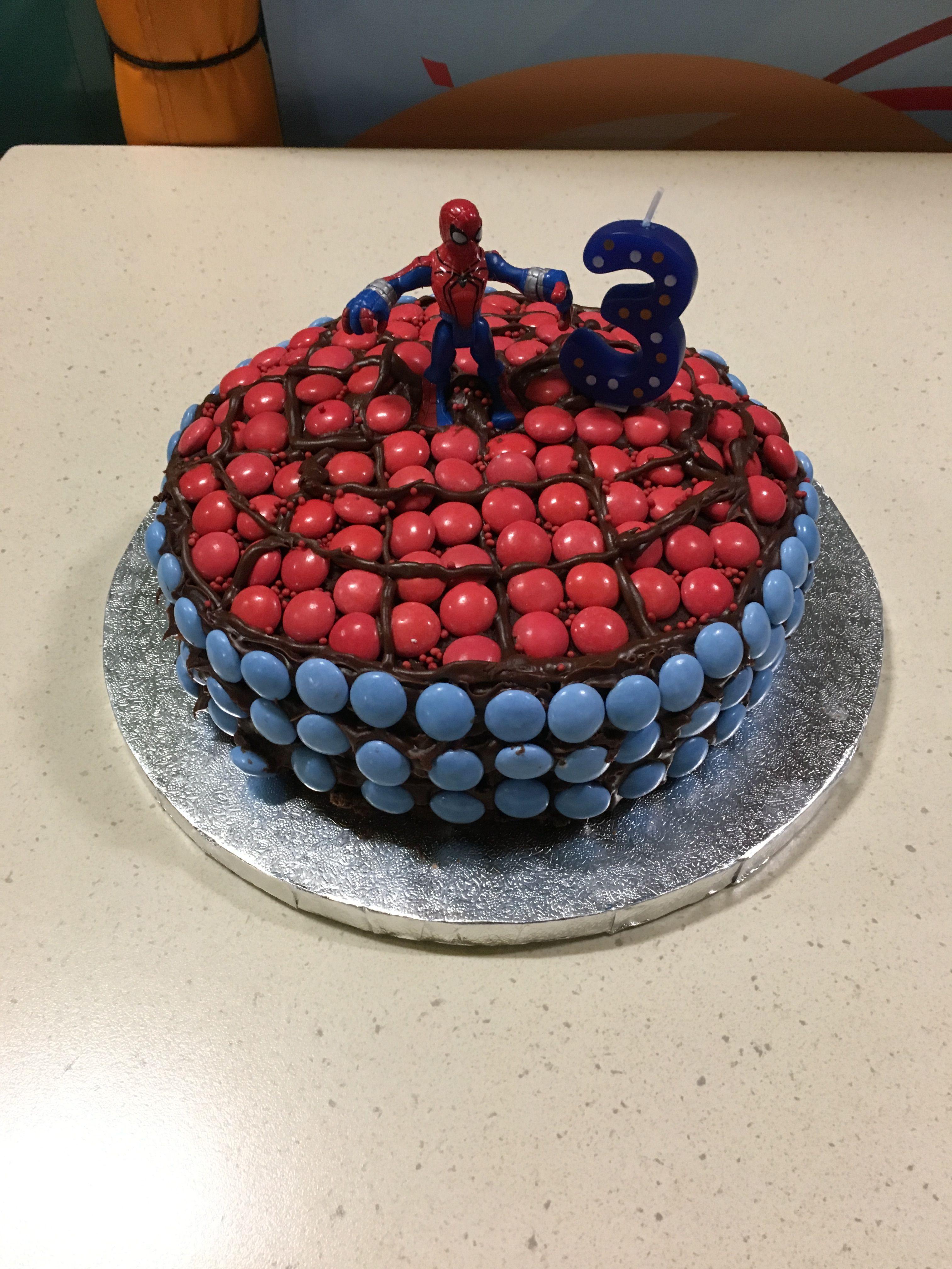 Spider-Man chocolate cake