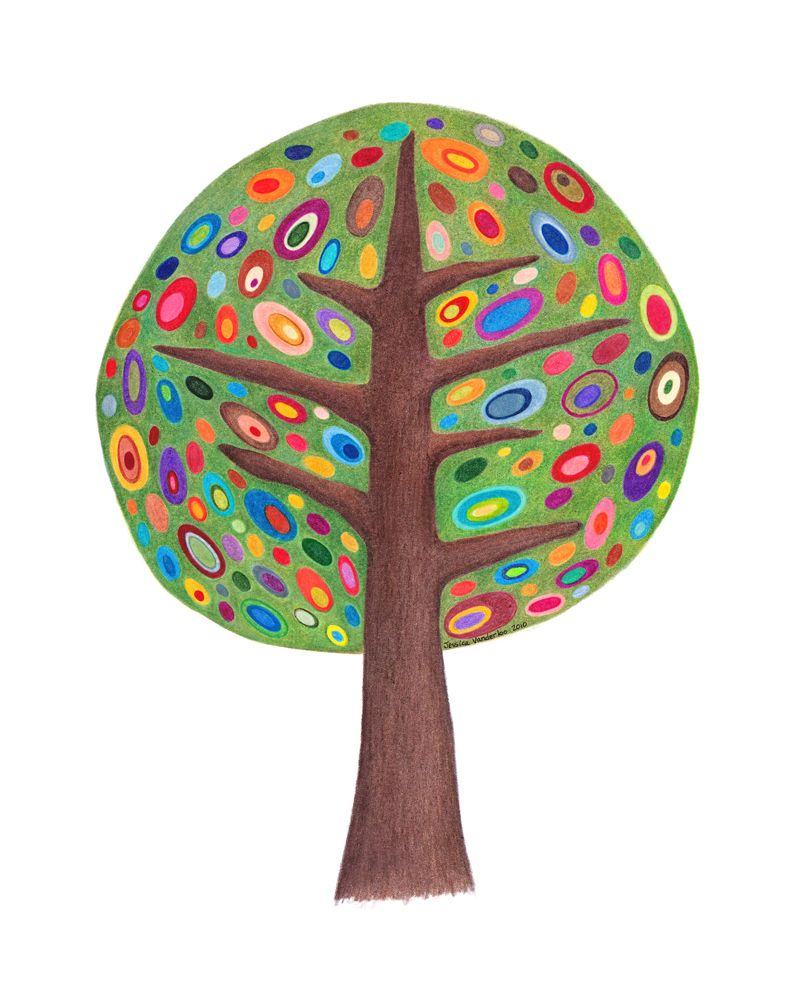 Tree Colored Pencil Drawing | My Stuff!!! | Pinterest | Coloured ...
