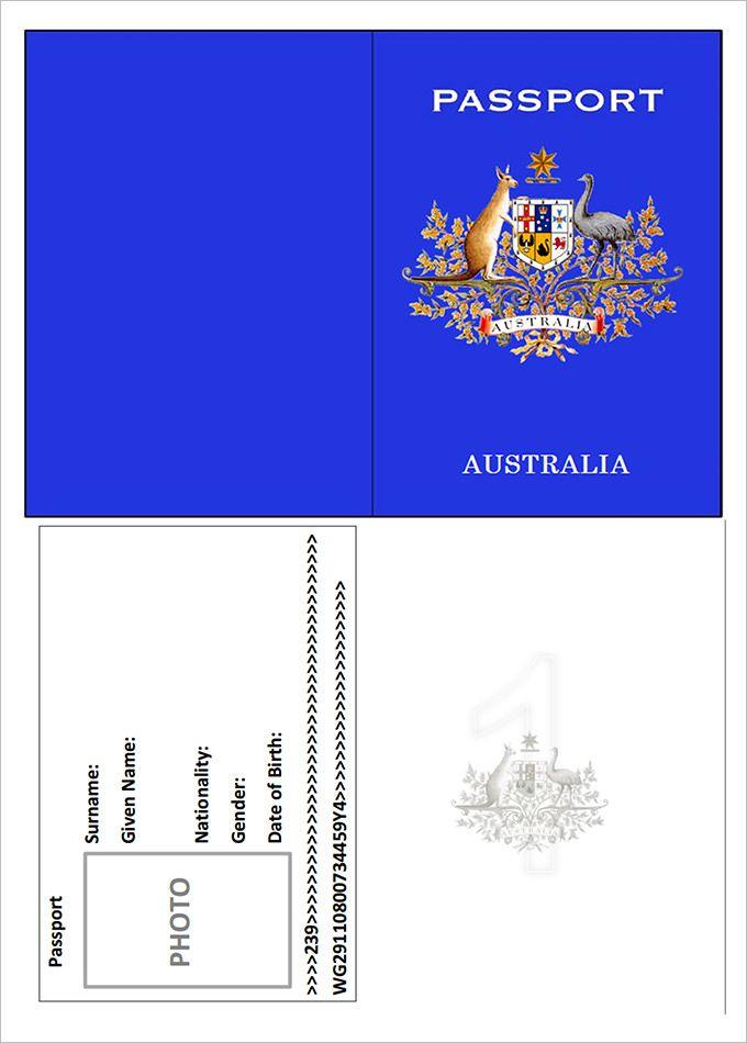 Passport Template – 19+ Free Word, PDF, PSD, Illustrator Format ...