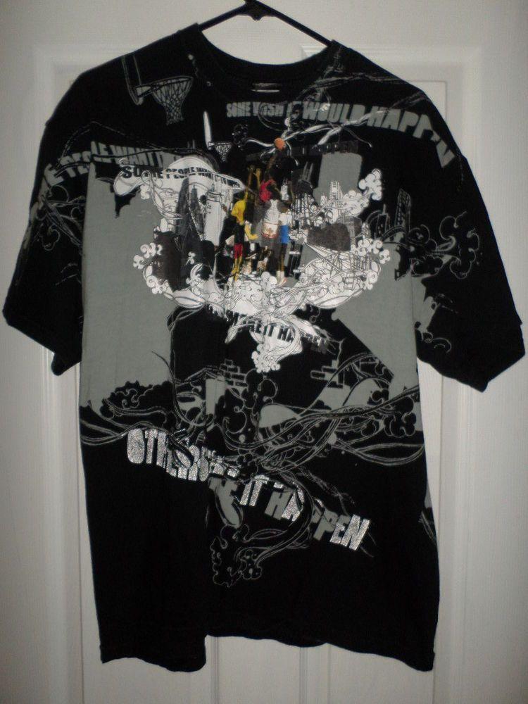 Men's Multi-Color NIKE AIR JORDAN Streetwear Graffiti Logos Shirt, Size XL,  GUC