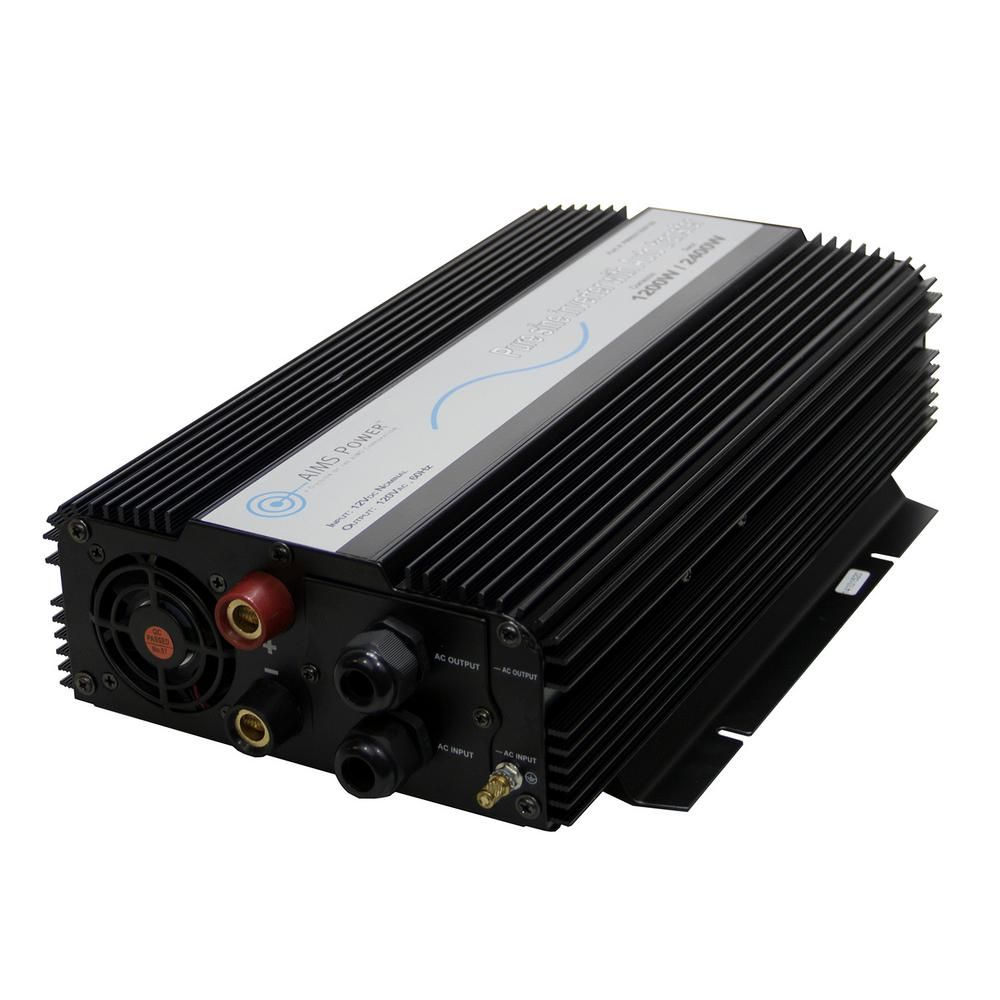 AIMS POWER 1,200-Watt Pure Sine Inverter with Automatic