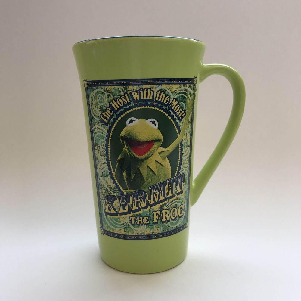 Disney Store Kermit The Frog The Host With The Most Coffee Mug Cup 16oz Muppets #Disney