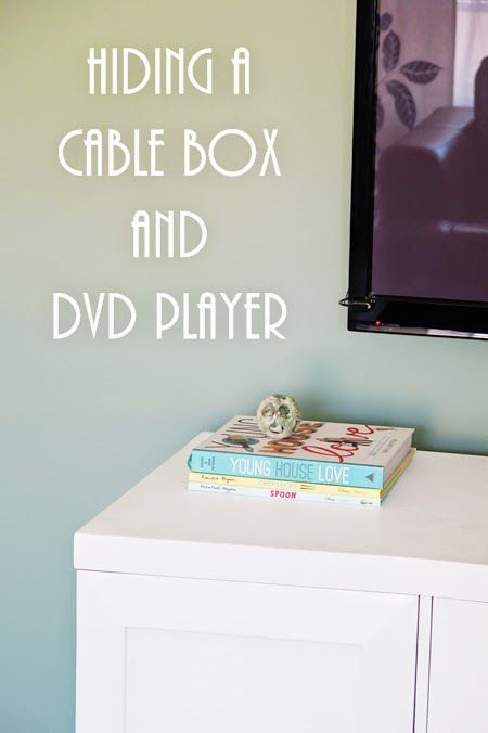 hiding a cable box and dvd player fiscally chic for the home rh pinterest com