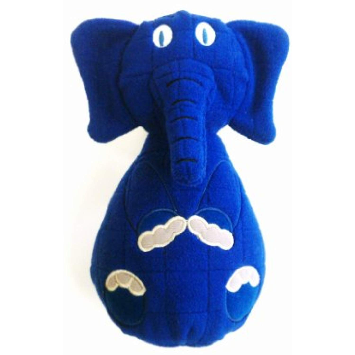 Tuff Enuff Wobbles 8 Inch Elephant Toy For Dogs Large Blue