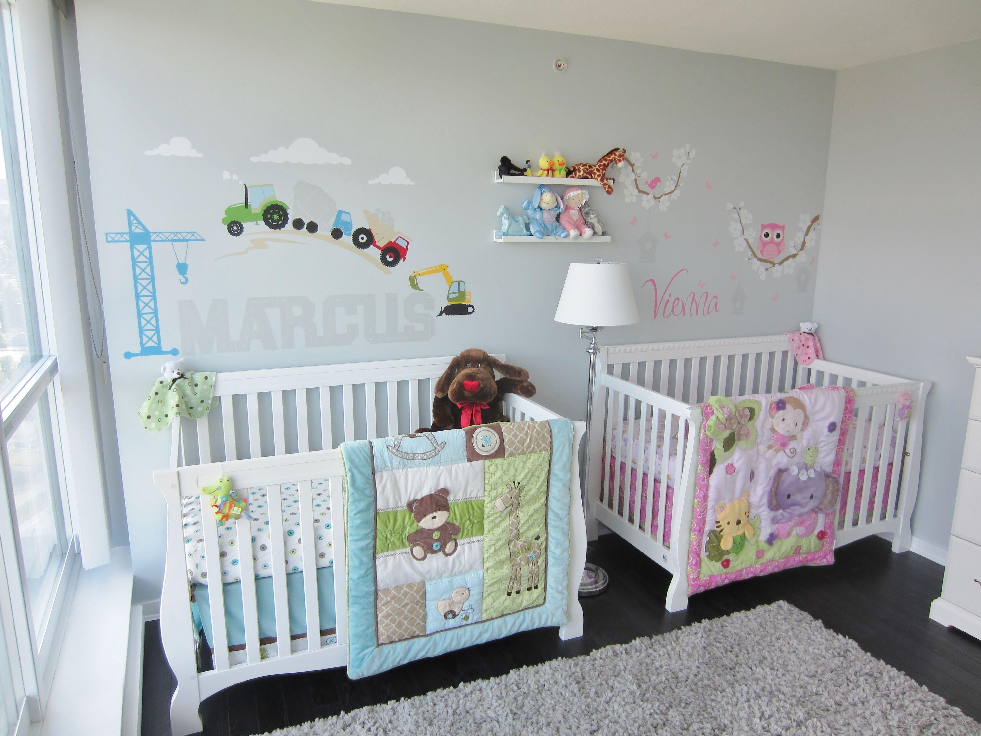 Twins Nursery Boy Girl Twin Baby Rooms Twin Babies Nursery