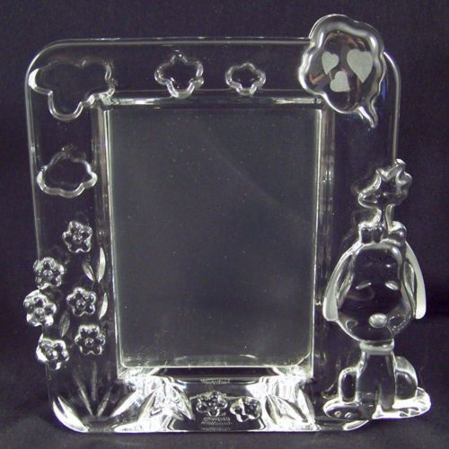 Marquis By Waterford Crystal Snoopy Picture Frame Photo Peanuts