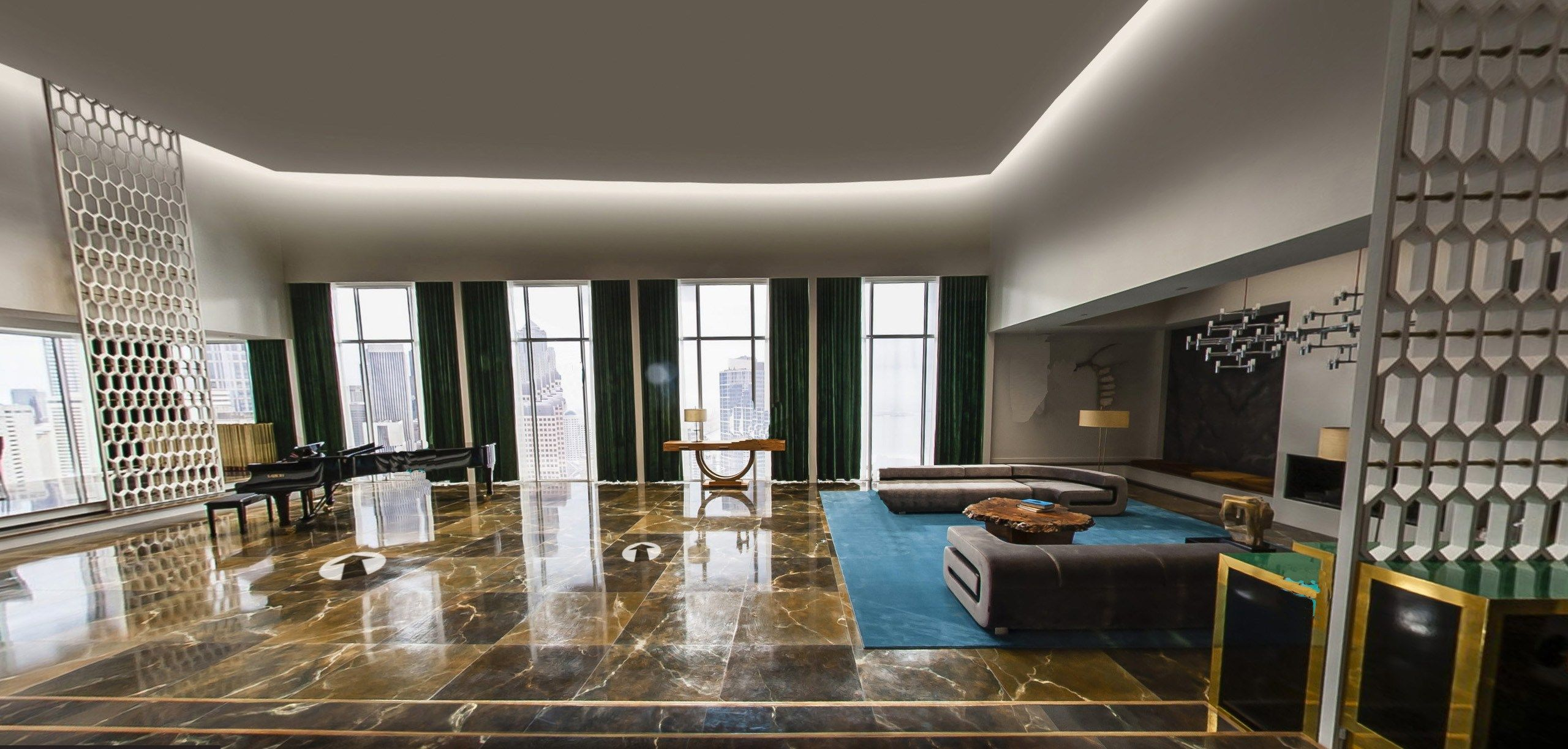 Design Of The Penthouse Apartment In 50 Shades Of Grey