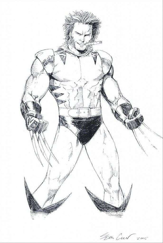 Free Printable Wolverine Coloring Pages For Kids Superhero Coloring Animal Coloring Pages Cartoon Coloring Pages