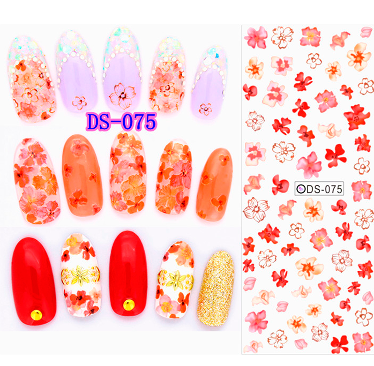 Korean watermark decals cartoon cute nail stickers simulation nail ...