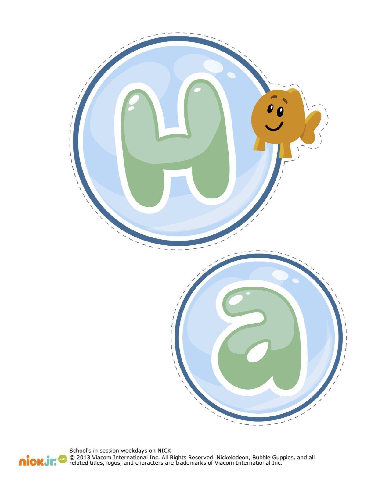 Bubble Guppies Happy Birthday Decorations Printable