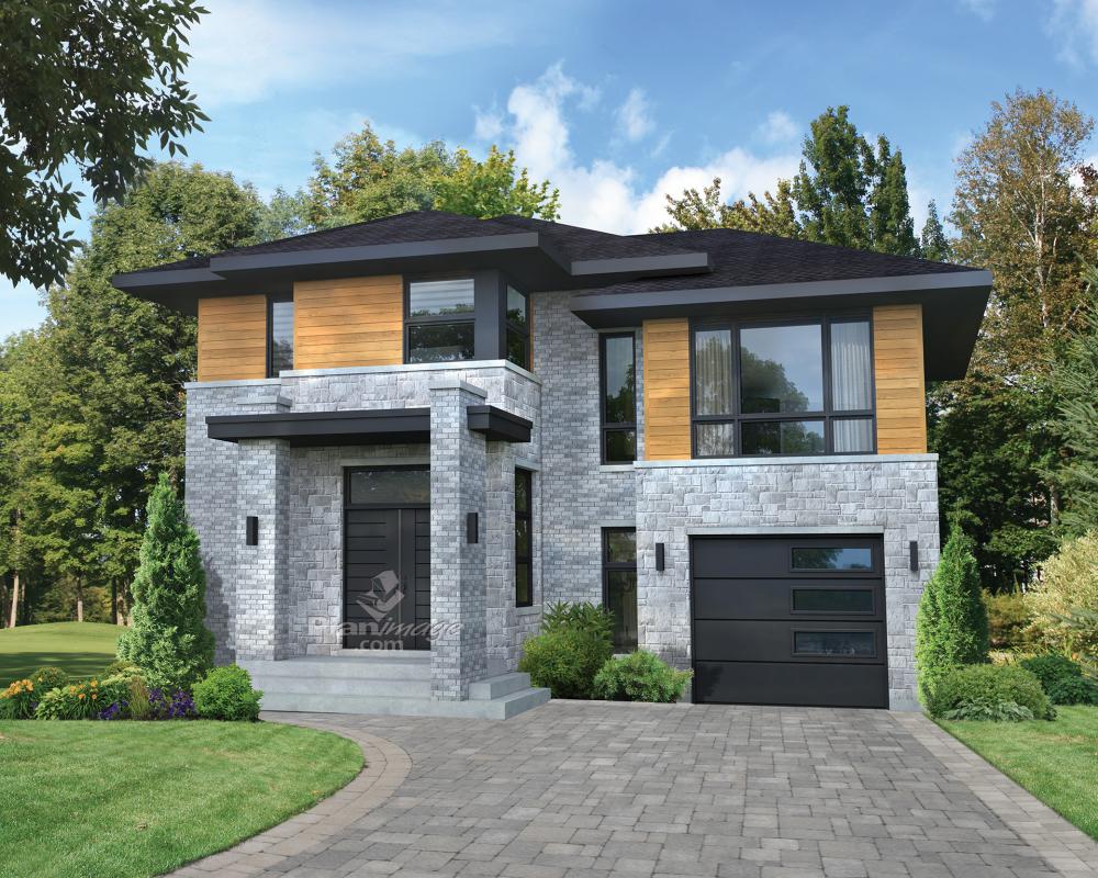 ultramoderne cette maison tage la fenestration abondante se distingue par son grand porche. Black Bedroom Furniture Sets. Home Design Ideas