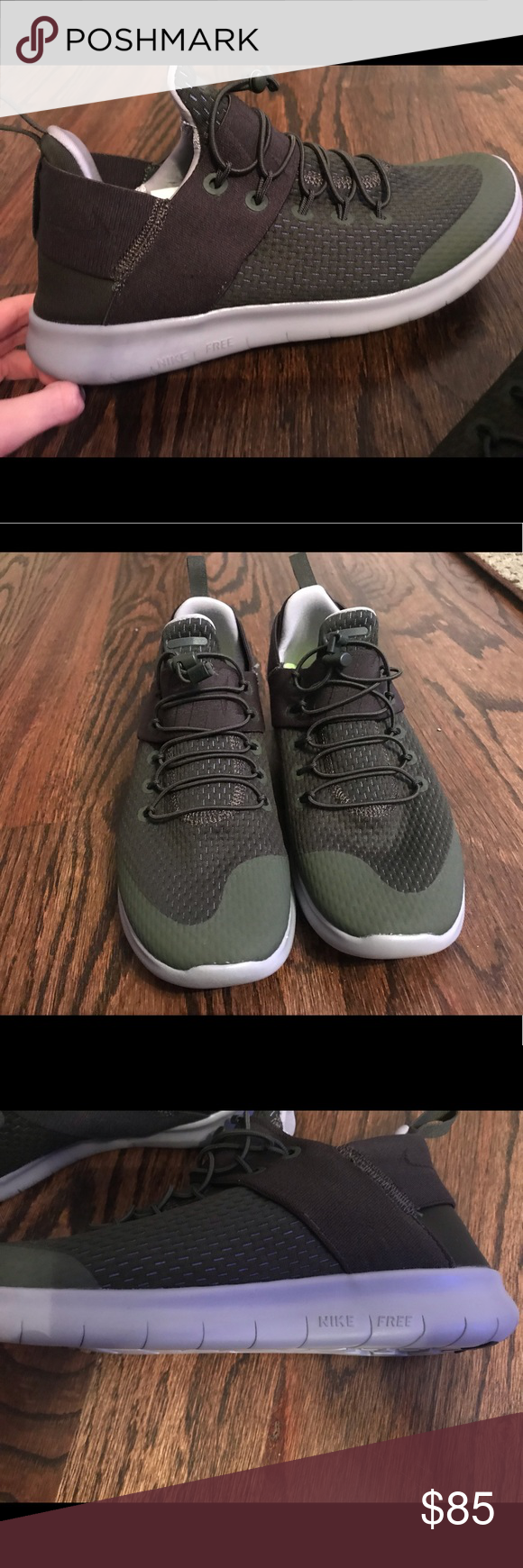 Nike Shoes | Never Worn Nike Free Runs | Color: Green | Size: 9 #nikefreeoutfit