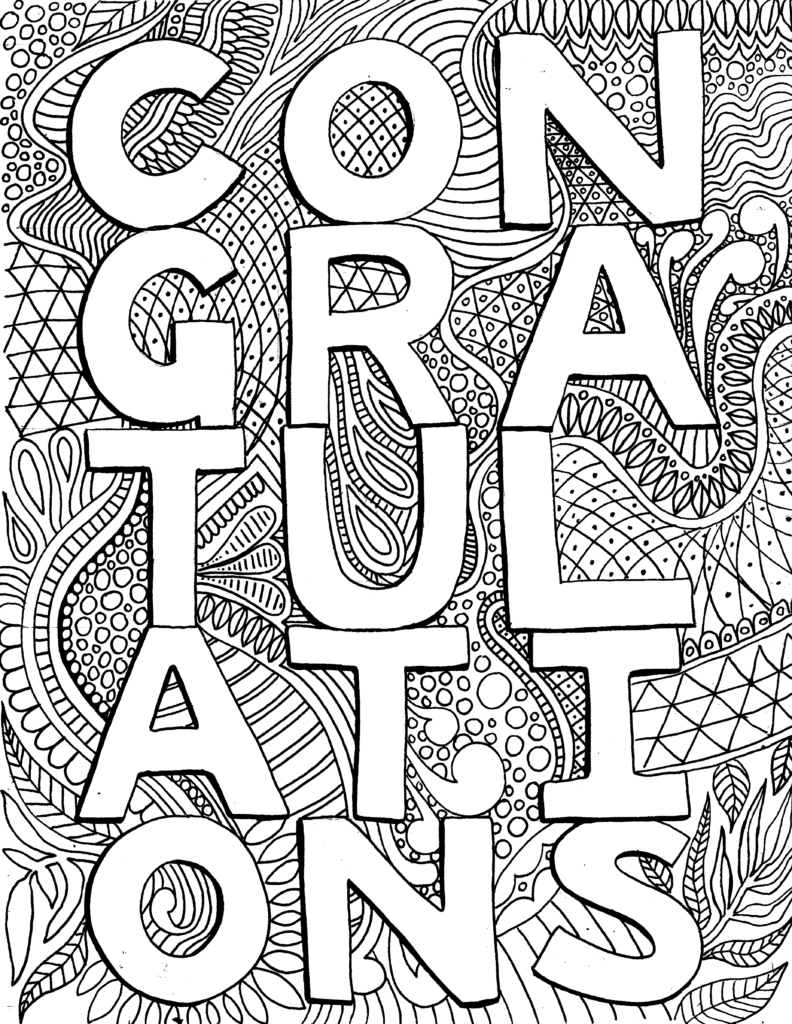 Congratulations Free Printable In 2020 Quote Coloring Pages Lds Coloring Pages Free Printables