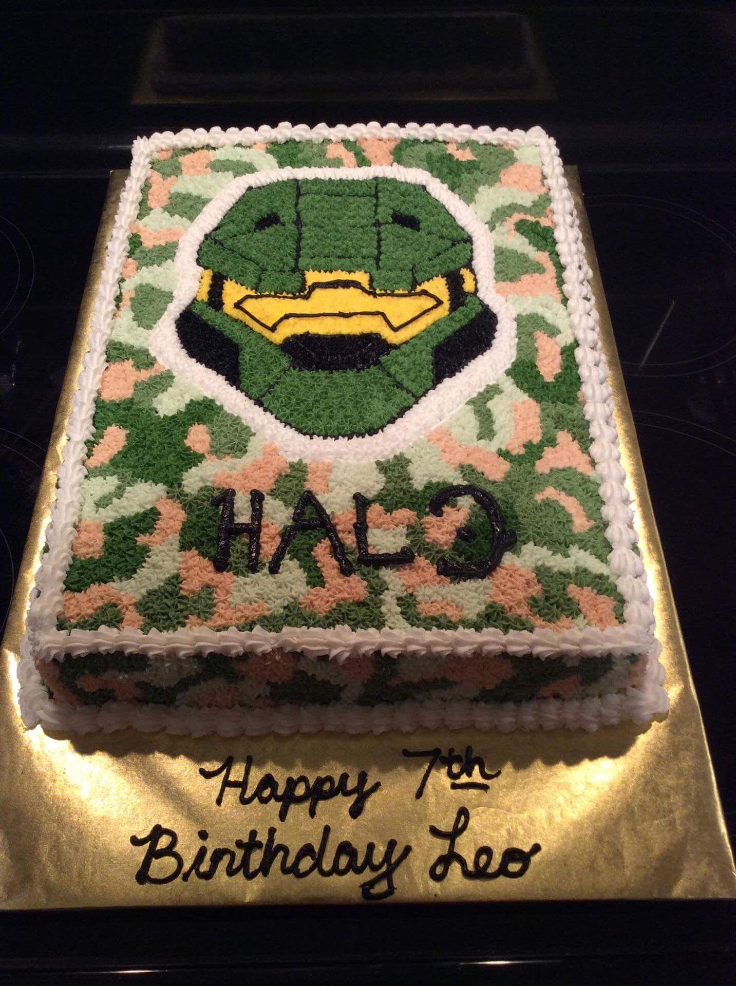 Pleasing Halo Military Theme Master Chief Halo Master Chief Halo Cake Birthday Cards Printable Nowaargucafe Filternl