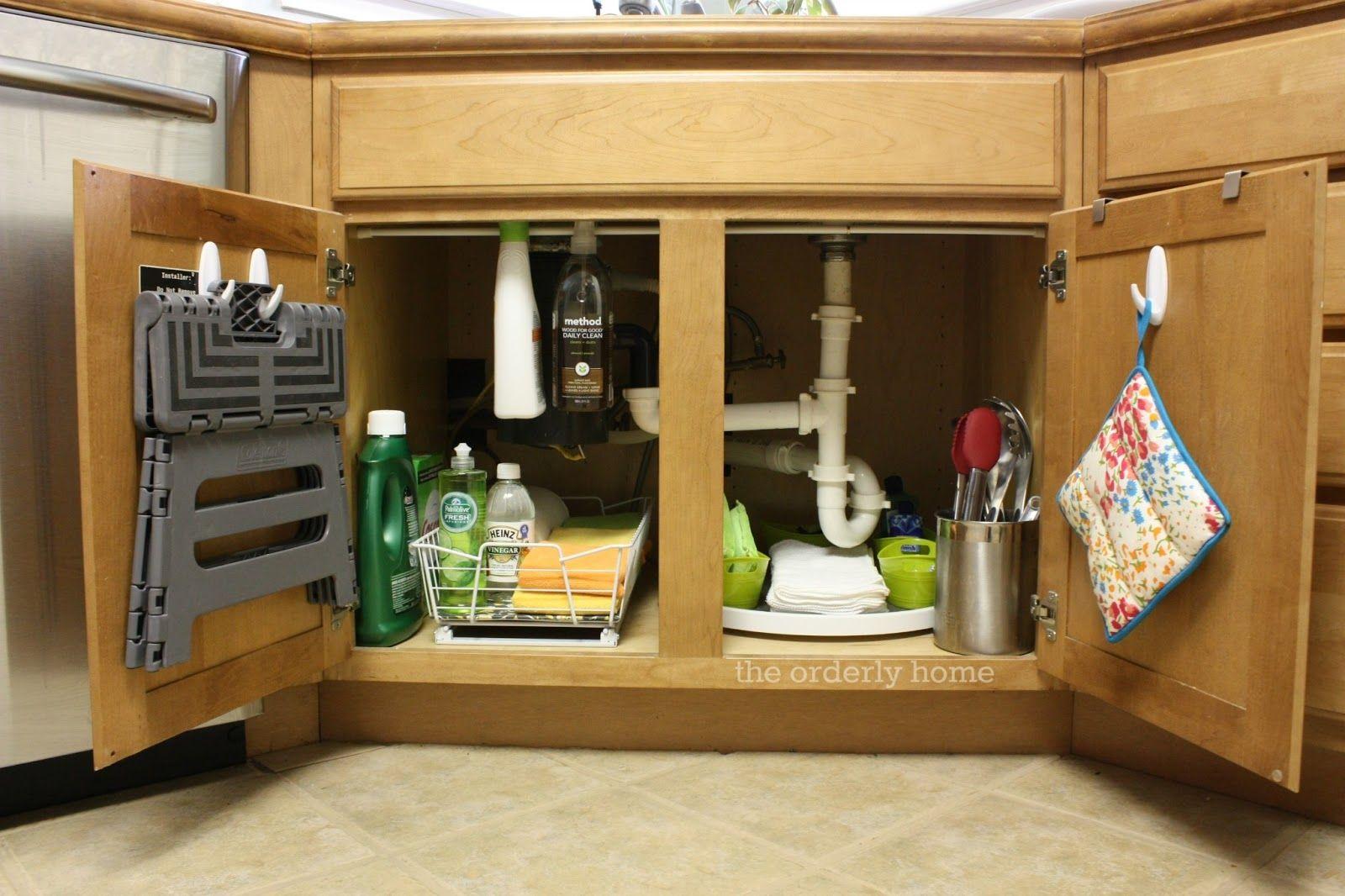 The Orderly Home Under The Kitchen Sink Under Kitchen