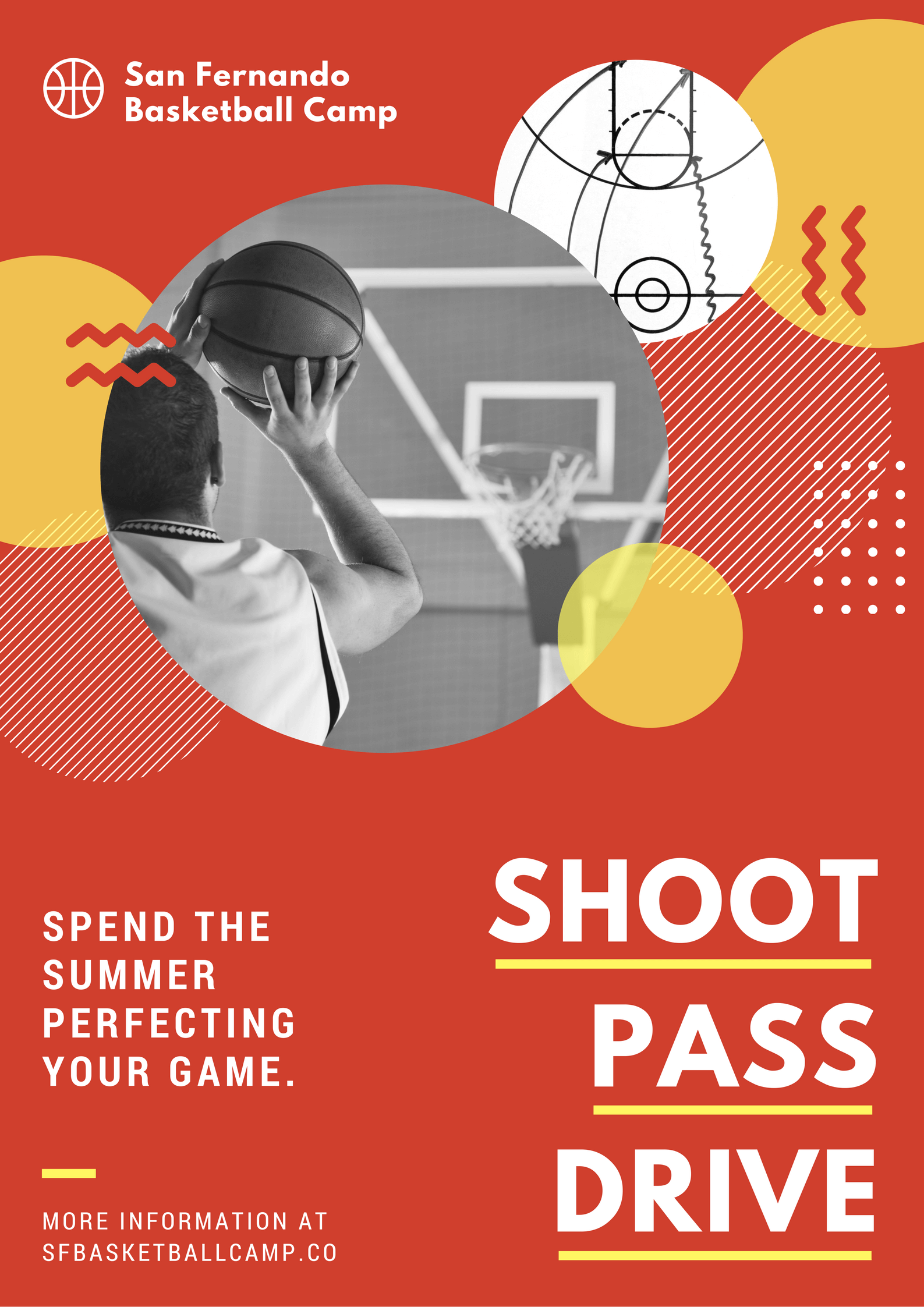 Ante Up Your Marketing Game With A Sales Driving Big Color Poster Learn Simple Poster Design Sport Poster Design Circle Graphic Design