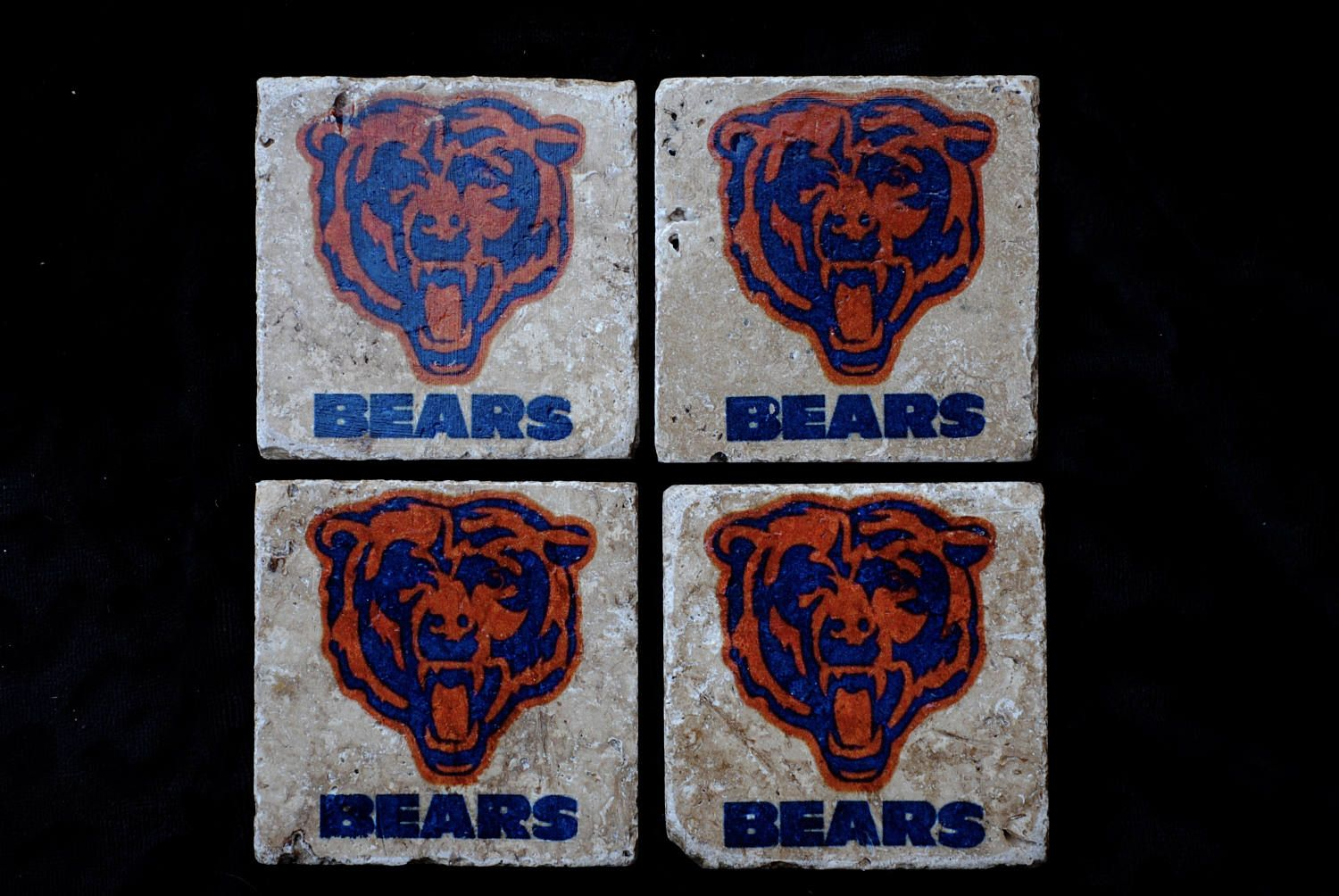 Chicago bears coasters by starrbridge on etsy gifts for