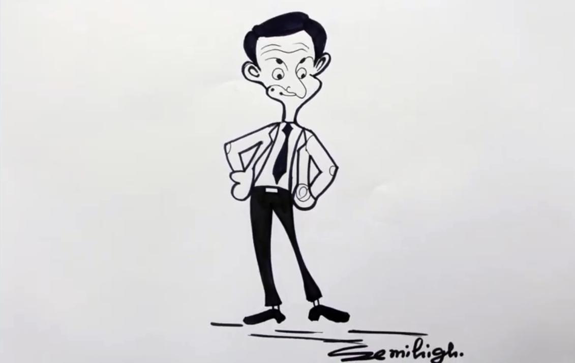 How To Draw Mr Bean Cartoon Step By Step   Mr bean cartoon ...