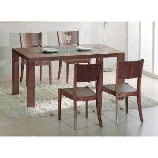 Beverly Hills Furniture Stark Dining Table in Walnut  priced at $538.00 at Homeclick.com.