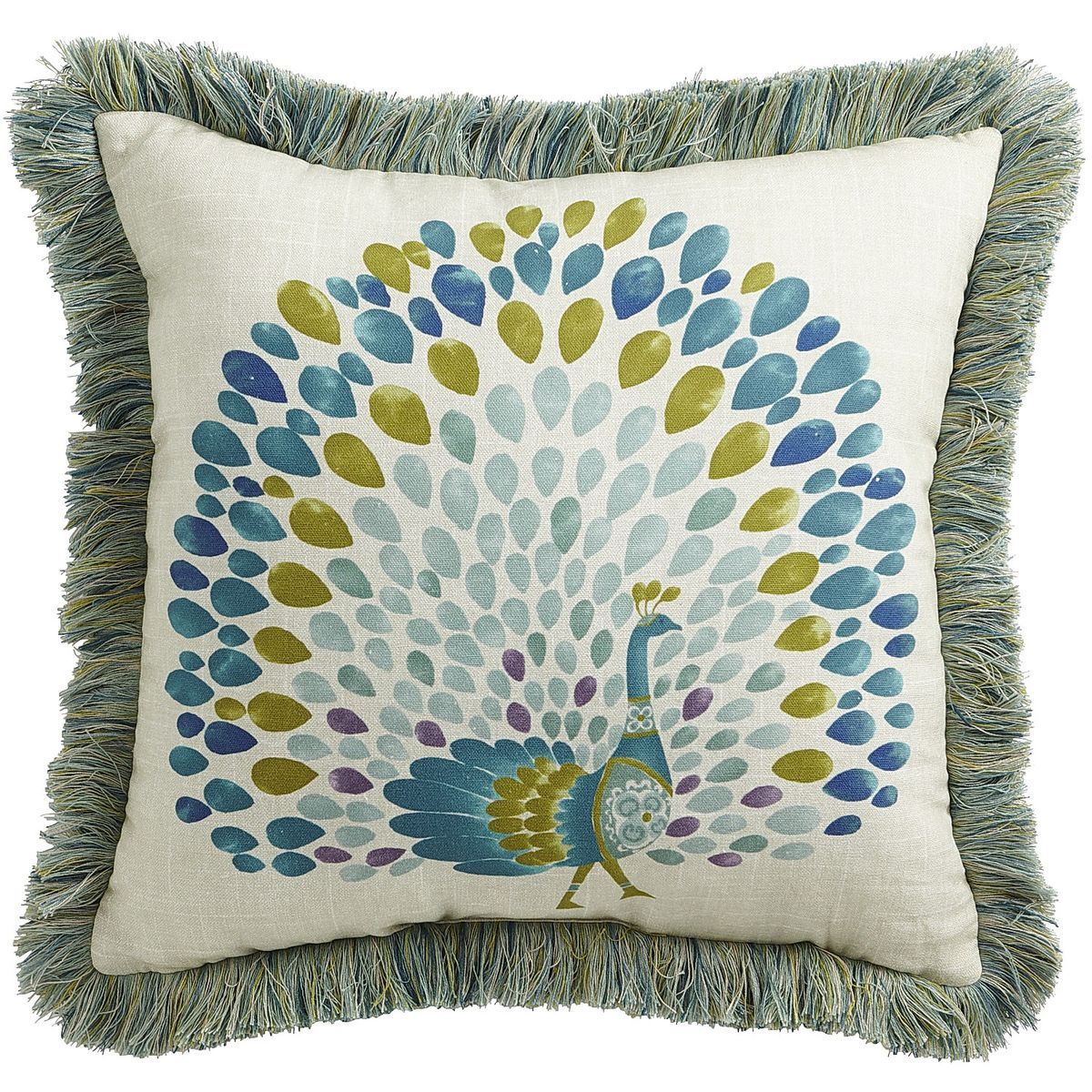 Calliope Peacock Pillow Pier 1 Imports Peacock Perfection