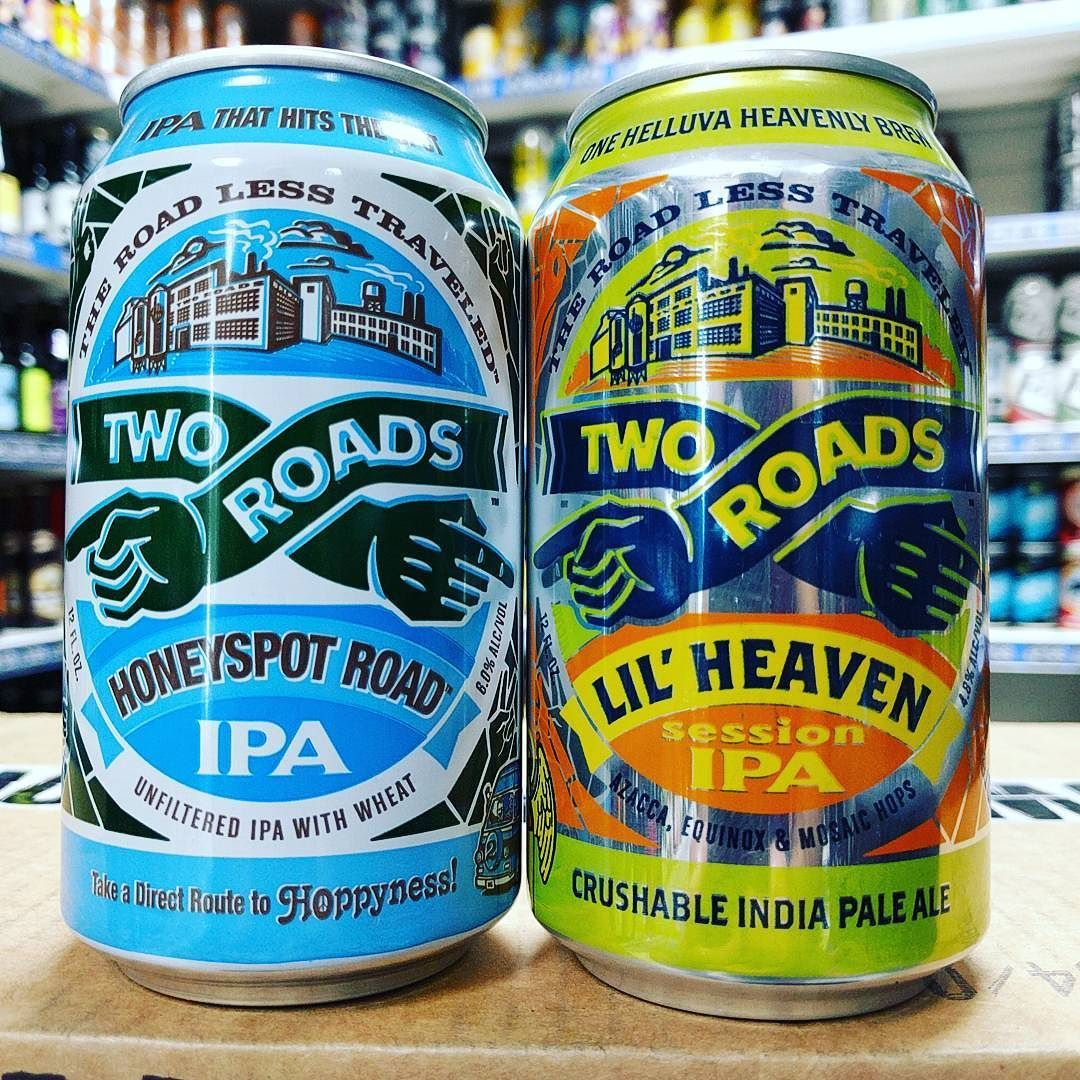 Honey Spot Road 6% IPA & Lil' Heaven - 4.8% Session IPA from @tworoadsbrewing available now