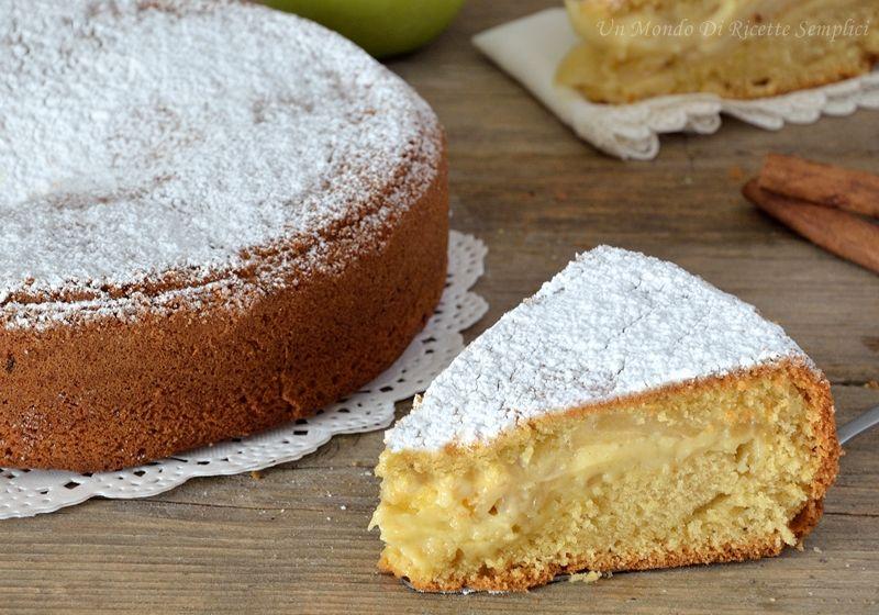 La torta di mele e crema pasticcera è una torta soffice, gustosa e profumata, perfetta da servire a colazione o come merenda.
