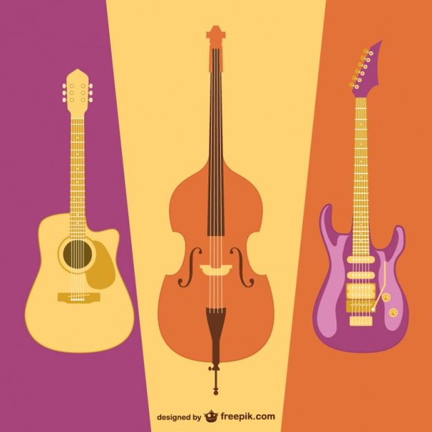 colorful guitars | Sınıf Dekorasyonu | Guitar, Album covers