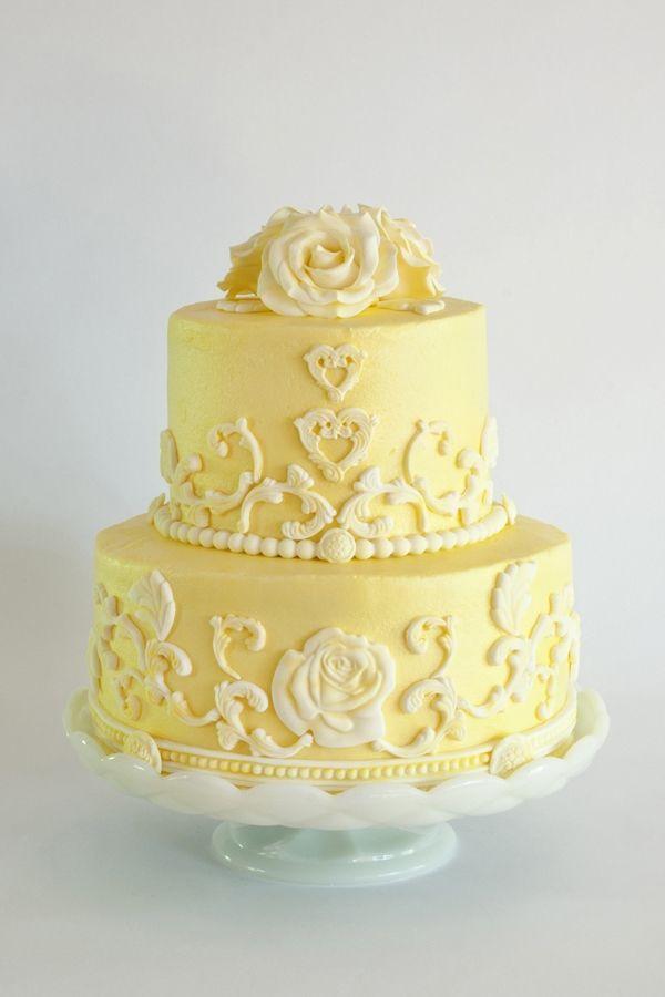 Yellow Rose Cake - using the Wilton Baroque mold. | **YELLOW MELLOW ...
