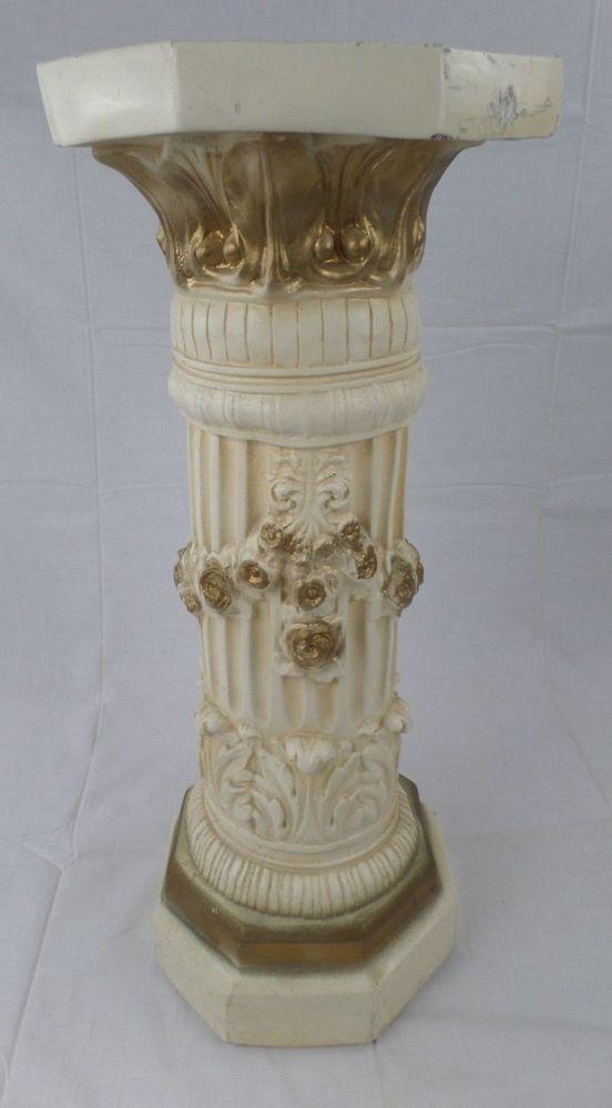 Roman Pedestal Column Stand Acanthus Greek Floral Plant