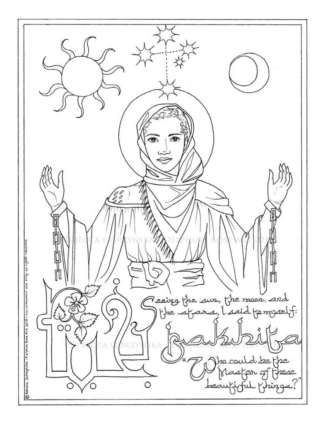 Saint Josephine Bakhita Coloring Page St Josephine Bakhita