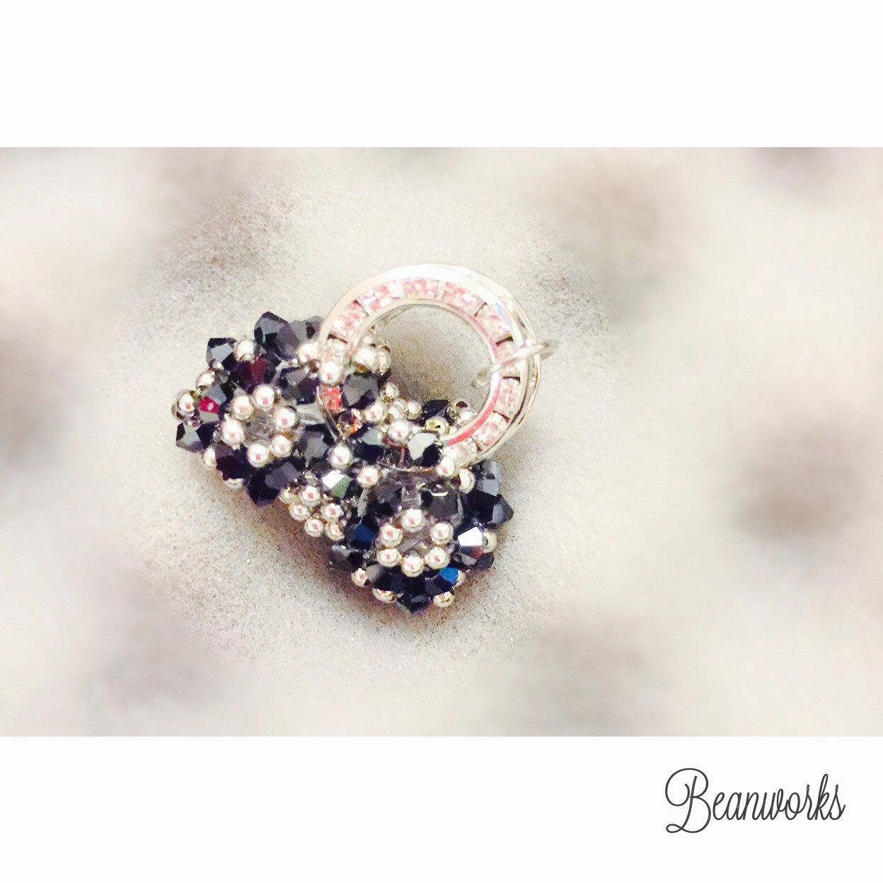 ❄️Christmas Sale 20% off❄️ NOW @ HK$238  - 100% handmade of real Swarovski crystal (3mm and silver beads). - Size: 2 x 2cm - A pendent on your necklace; or hang on a keychain; or iPhone string.  Shop at https://www.etsy.com/shop/Beanworksonlinestore
