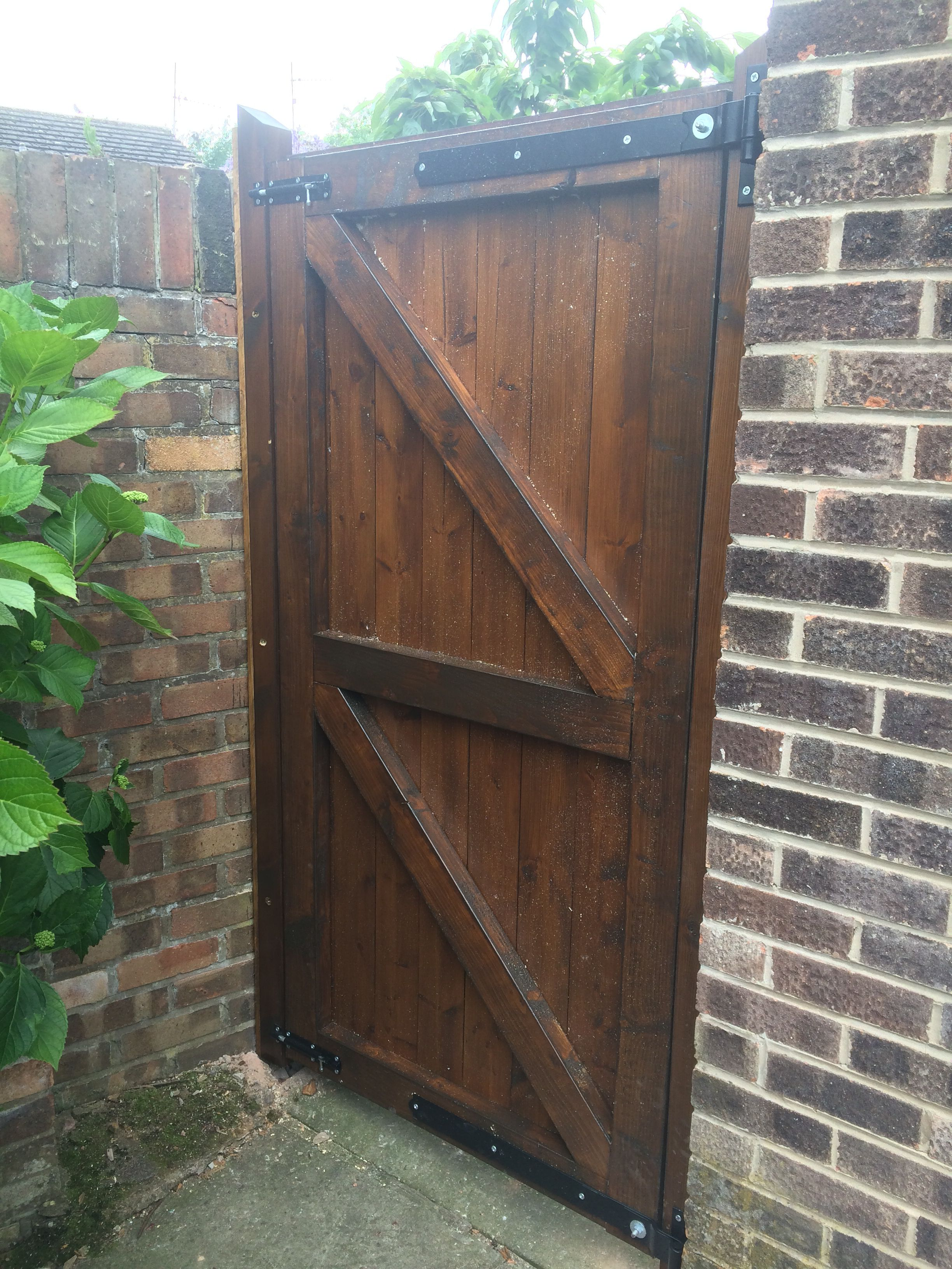 Finish My Hand Made Wooden Gate Garden Gates Garden In The Woods Garden Gate Design