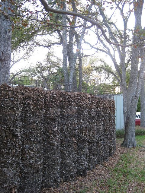 Compost As Fence Natural Fence Permaculture Gardening Natural Garden