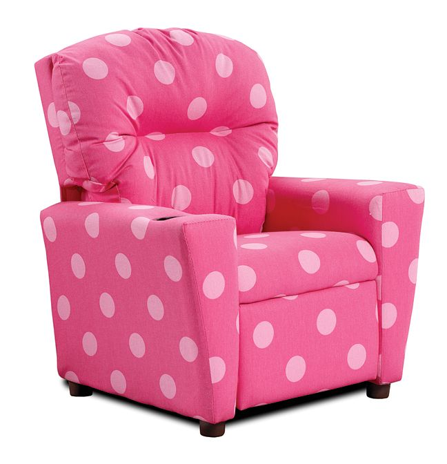 Bright Pink Polka Dot Kids Recliner From Kimbrell S Furniture Home Kids Recliners Childrens Recliner Kids Recliner Chair